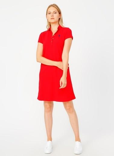 U.S. Polo Assn. U.S. Polo Assn. Kırmızı Elbise Kırmızı